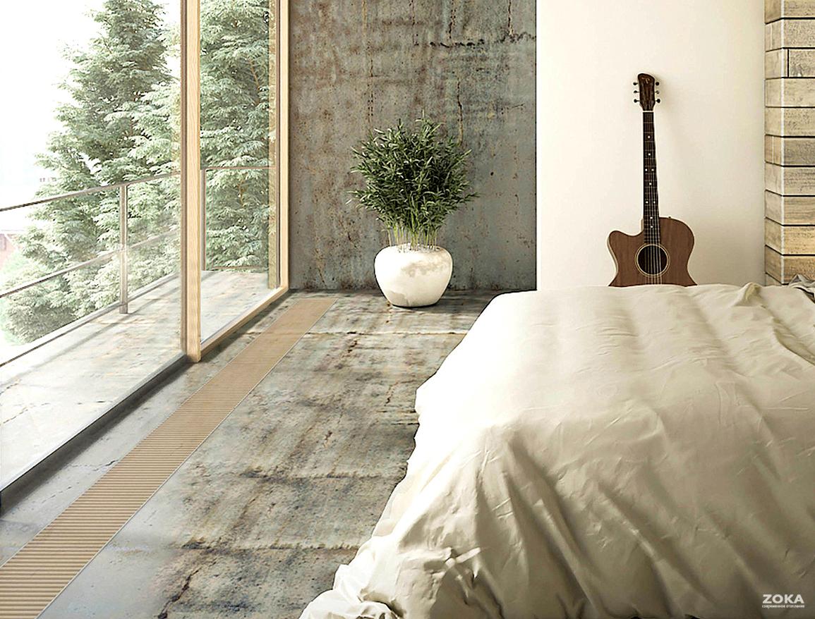 Устанавливать ли внутрипольный конвектор в спальне?